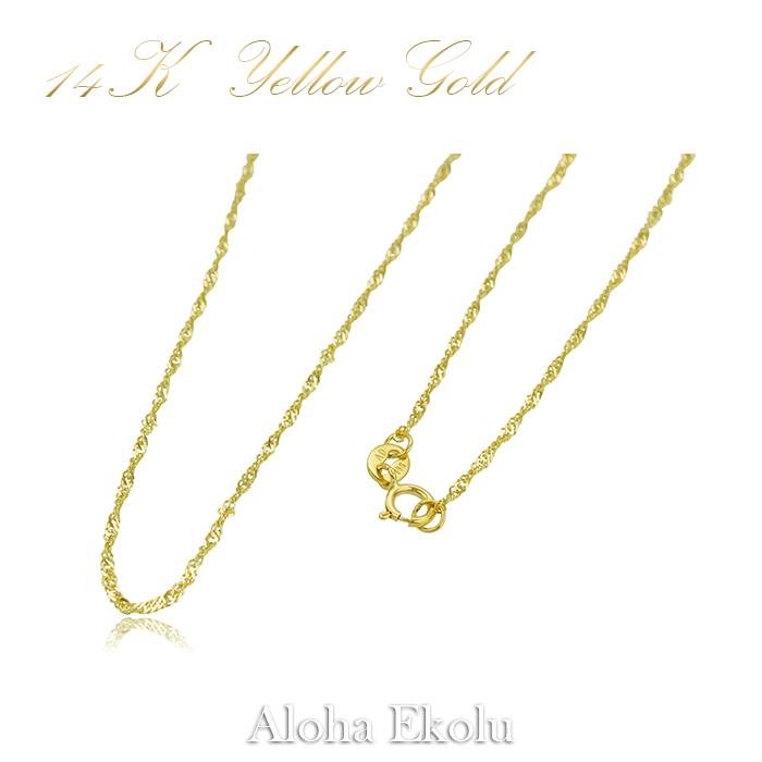 14Kスクロール彫りクロスペンダント(Yellow Gold)