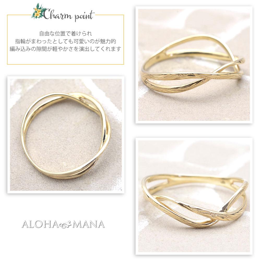 ハワイアンジュエリー 指輪 リング  K18 ゴールド ホア ゴールドリング 18金ゴールド イエローゴールド ari1684k18/新作