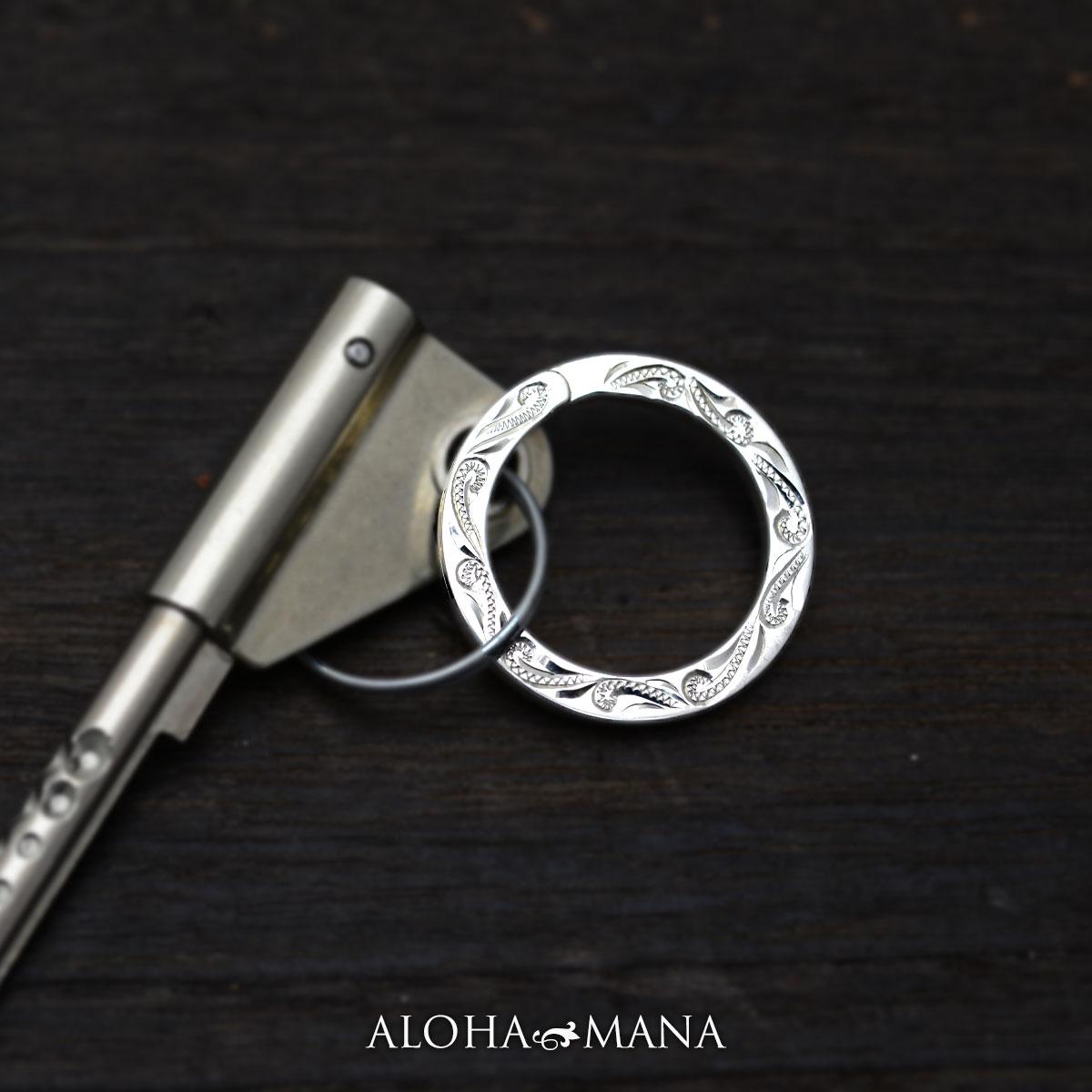 ハワイアンアクセサリー キーリング アクセサリー レディース メンズ シルバー スクロールキーリング awz1598/新作