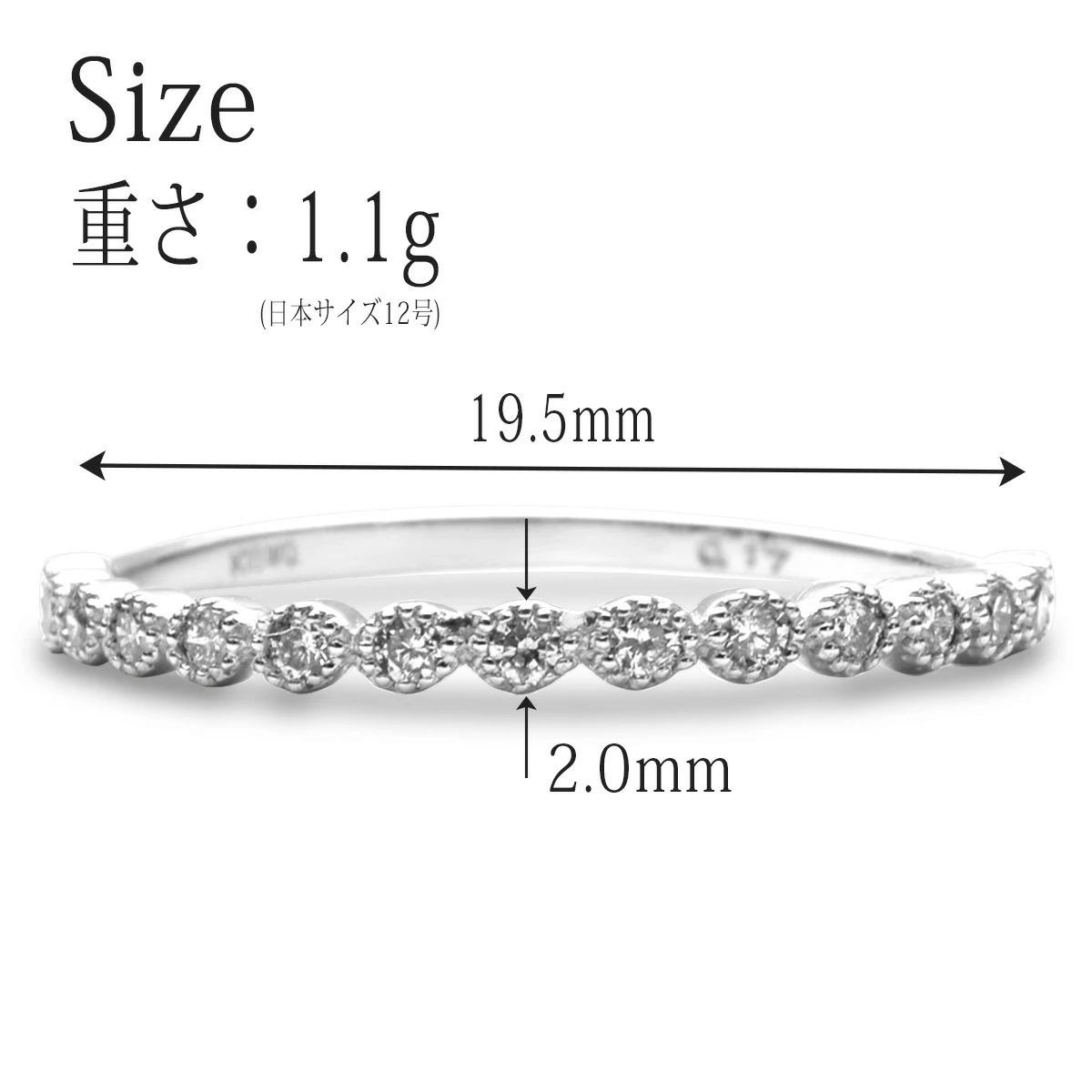 Pt900 プラチナ リング 指輪 ホワイトダイヤモンド ミルグレイン リング RERALUy rri1656pt 新作