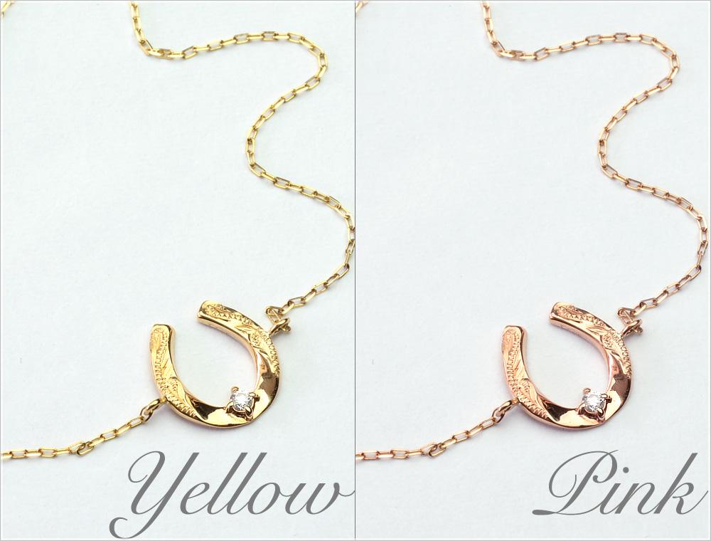 ブレスレット ハワイアンジュエリー アクセサリー レディース 女性 K10 ゴールド 10金 ダイヤモンド ホースシュー 馬蹄 イエロー ピンク 華奢 シンプル abr1415