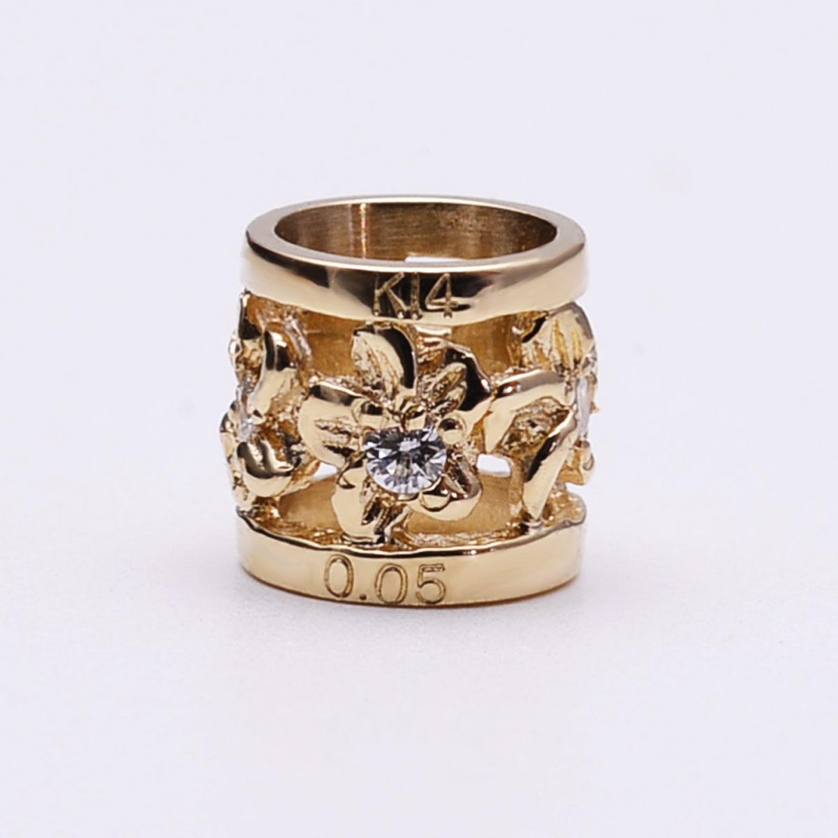 ハワイアンジュエリー ネックレス ダイヤモンドプチバレル・K14ゴールドペンダント apdo6498