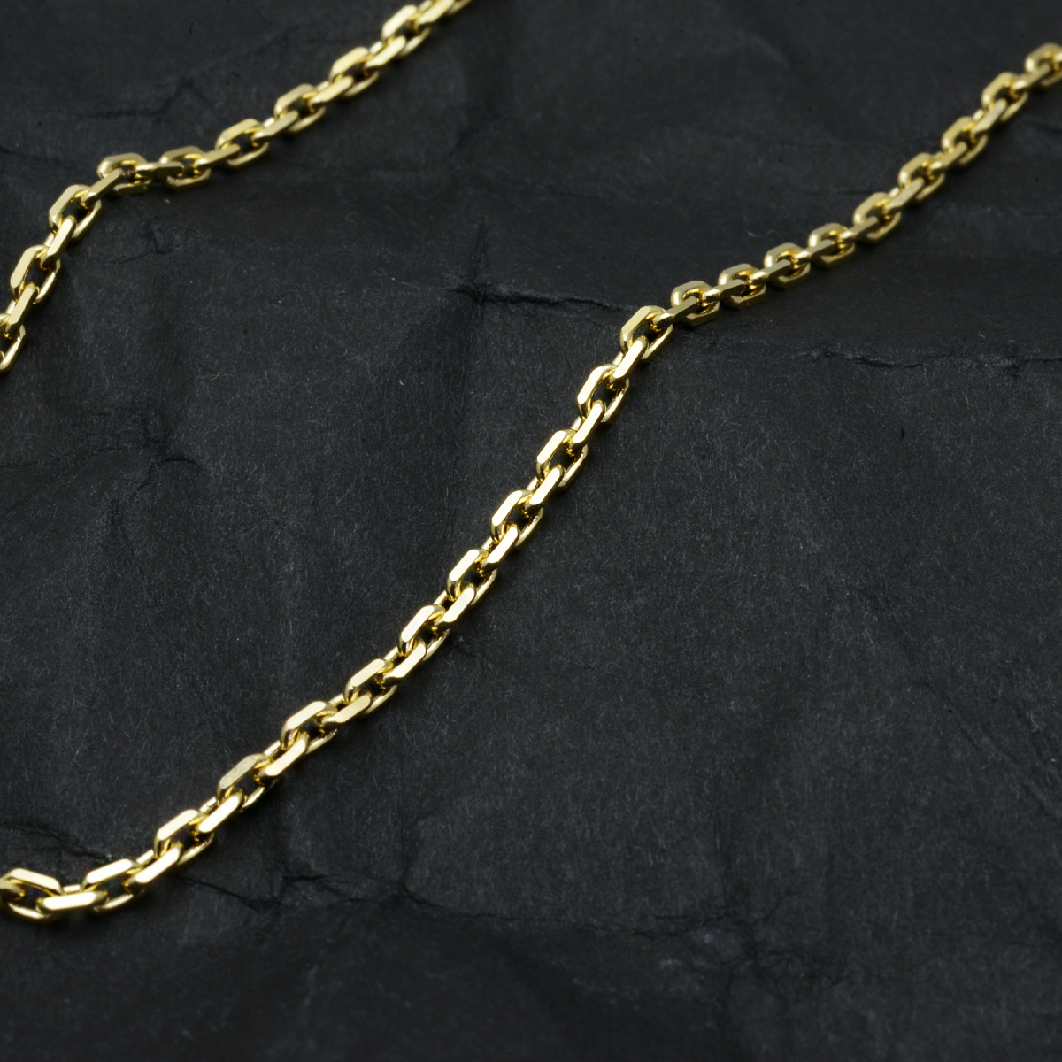 k18ネックレス K18 イエローゴールド メンズ 男性 カットアズキチェーン 幅1.7mm チェーン 50cm/ プレゼント ギフト gold necklace ach1661c50