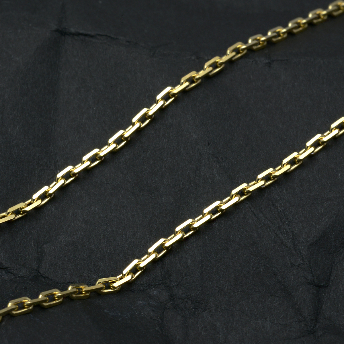 k18ネックレス K18 イエローゴールド メンズ 男性 カットアズキチェーン 幅1.9mm チェーン 50cm/ プレゼント ギフト gold necklace ach1662c50