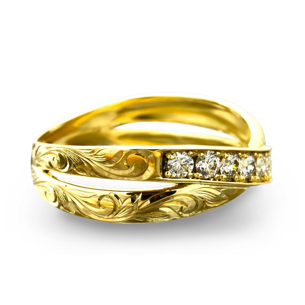 リング 指輪 ハワイアンジュエリーレディース 女性(Weliana) ハワイアンエアルーム エンゲージメントリング ハーフエタニティ ウェディング ダイヤモンド  wetk5002