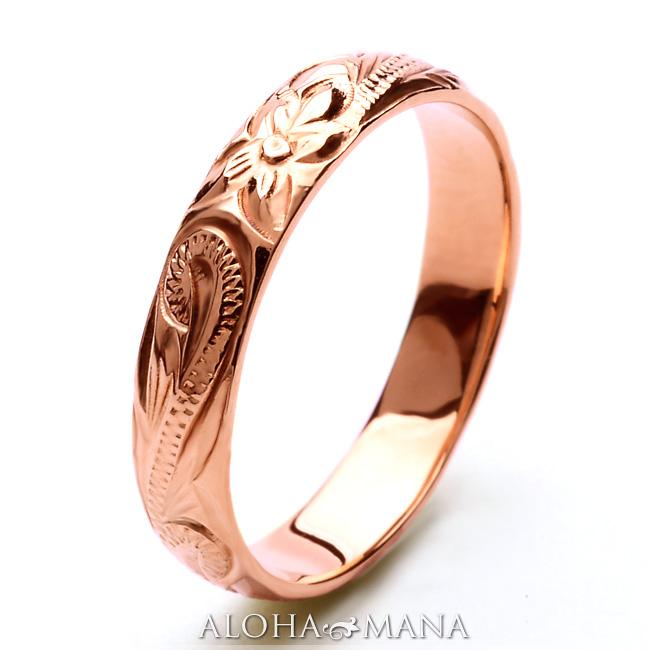 リング 指輪 ハワイアンジュエリーレディース 女性 メンズ 男性 ペアリングにオススメ ゴールドリング イエローゴールド ピンクゴールド ホワイトゴールド K10ゴールド(10金) arig0043wg