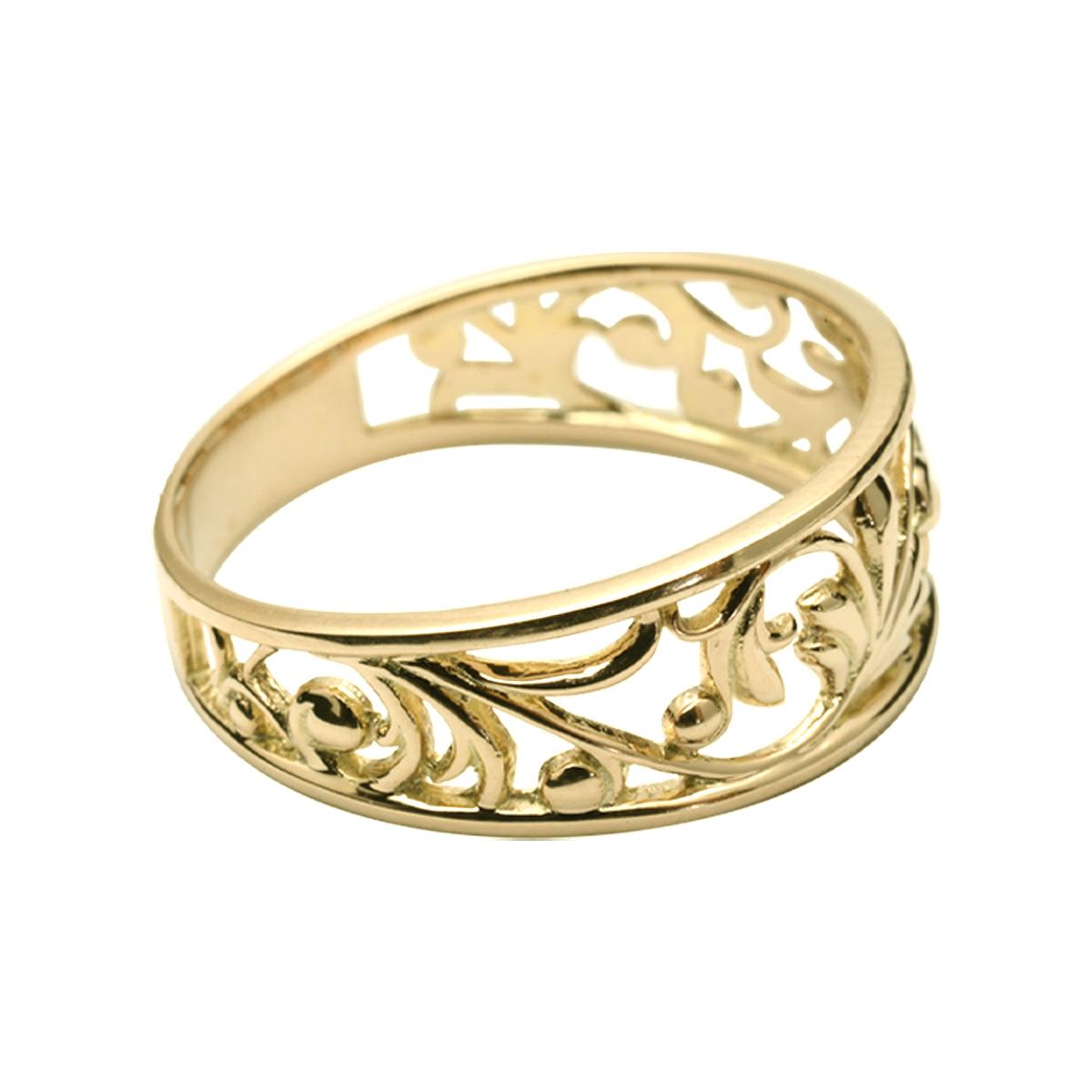 透かし リング 指輪 ハワイアンジュエリー アクセサリー レディース 女性 ゴールド透かしリング(K10 10k ゴールド 10金 イエローゴールド) ari1541 プレゼント ギフト 新作