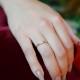 ダイヤモンド リング 指輪 ハワイアンジュエリー アクセサリー レディース 女性 ダイヤモンド スクロール ゴールドリング(K10 10k ゴールド 10金 幅2mm イエローゴールド) 華奢 ari1542