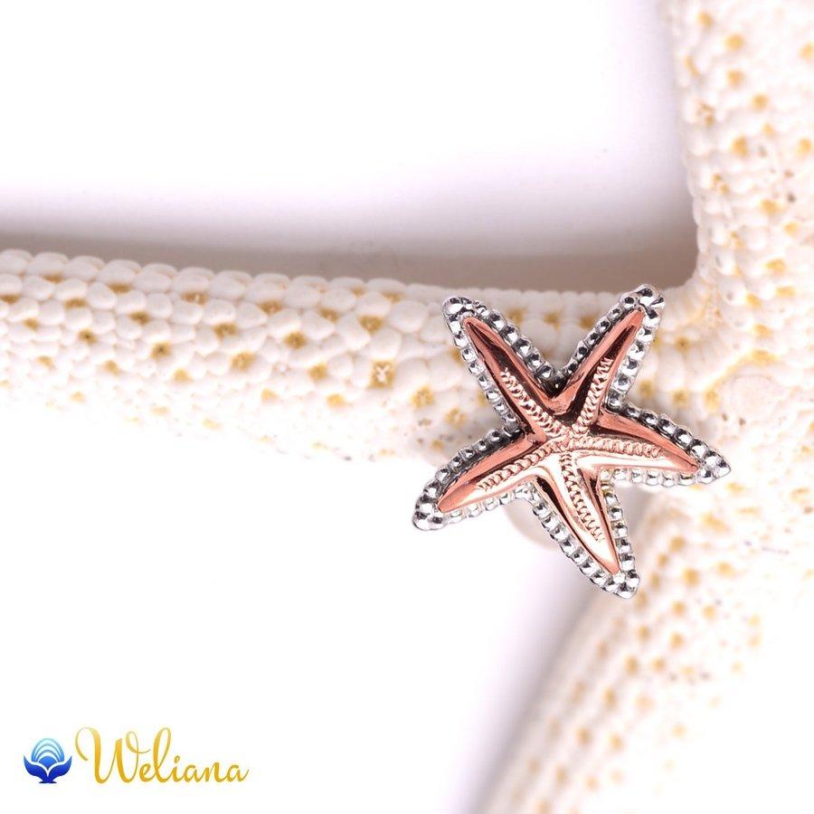 ハワイアンジュエリー ピアス レディース 女性 (K18 ゴールド 18金)(Weliana) デュアルスターフィッシュ ピアス イエローゴールド wpe1506