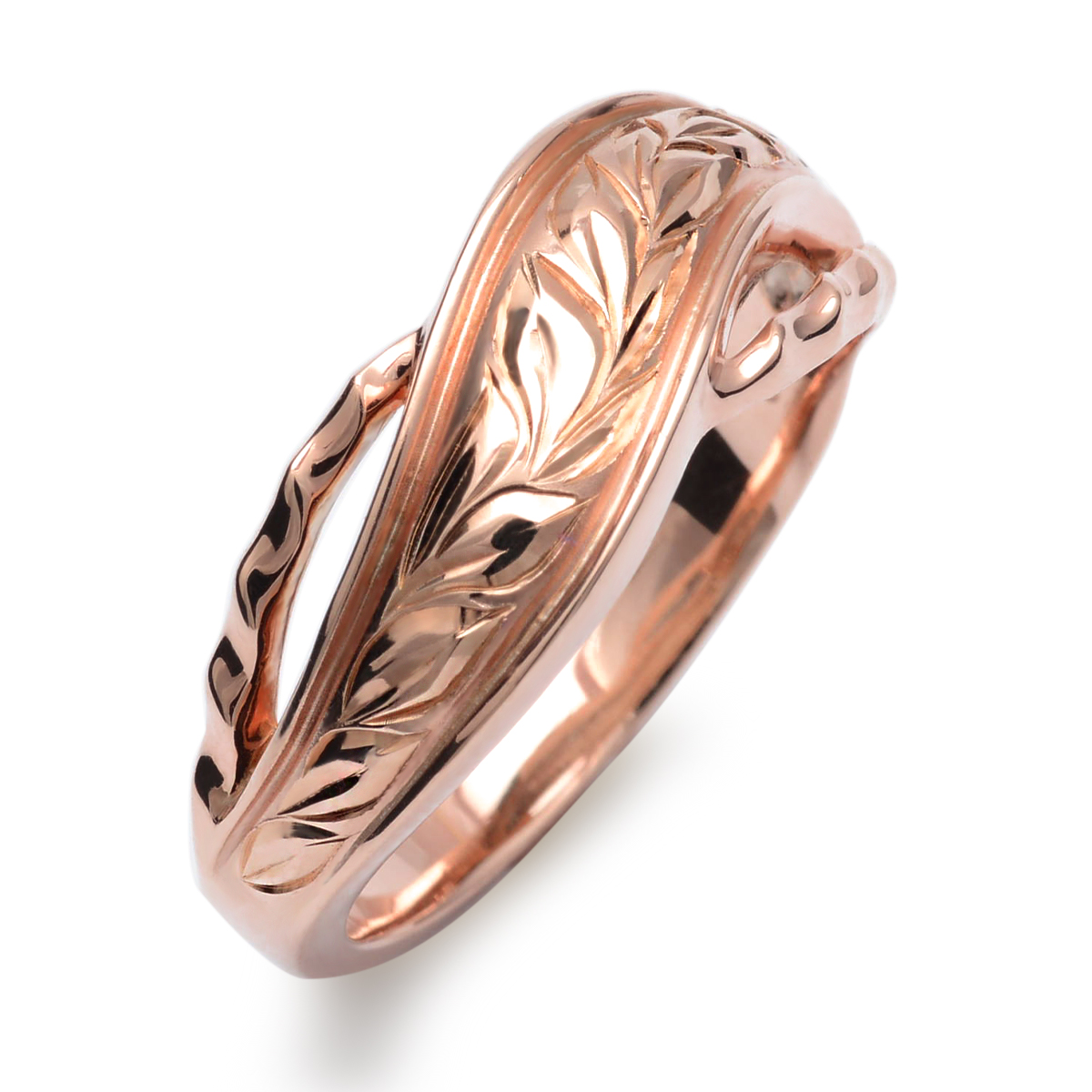 ハワイアンジュエリー リング 指輪 K10 ゴールド マイレウェーブリング 10金 k10 ゴールド イエローゴールド ピンクゴールド ari1457k10/新作
