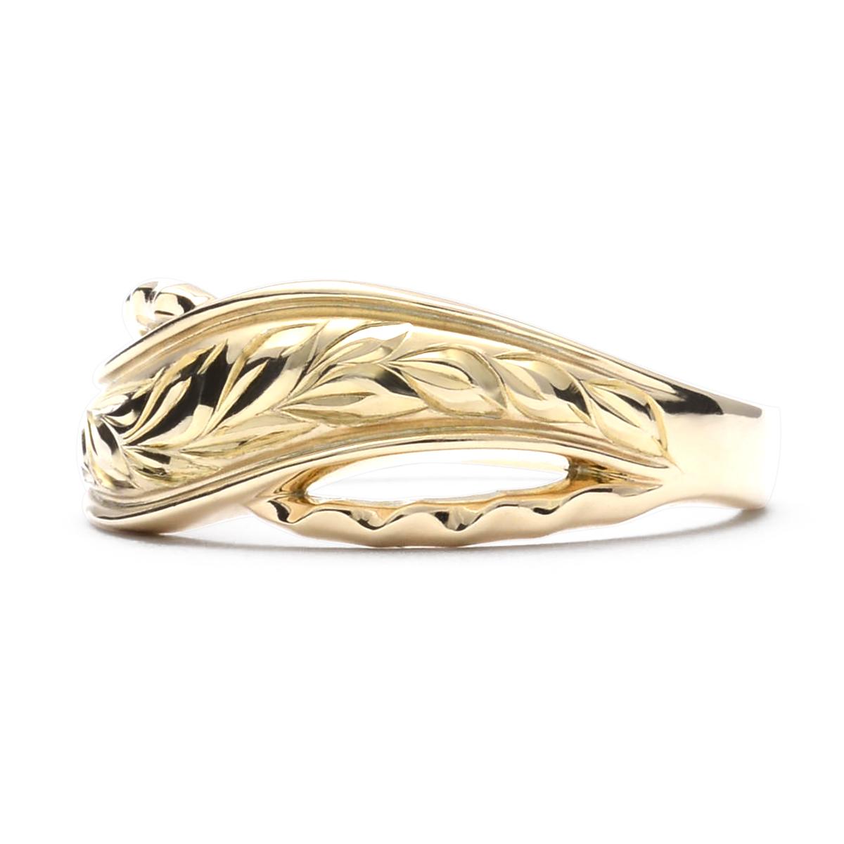 ハワイアンジュエリー リング 指輪 K18 ゴールド マイレウェーブリング 18金 k18 ゴールド イエローゴールド ピンクゴールド ari1457k18/新作