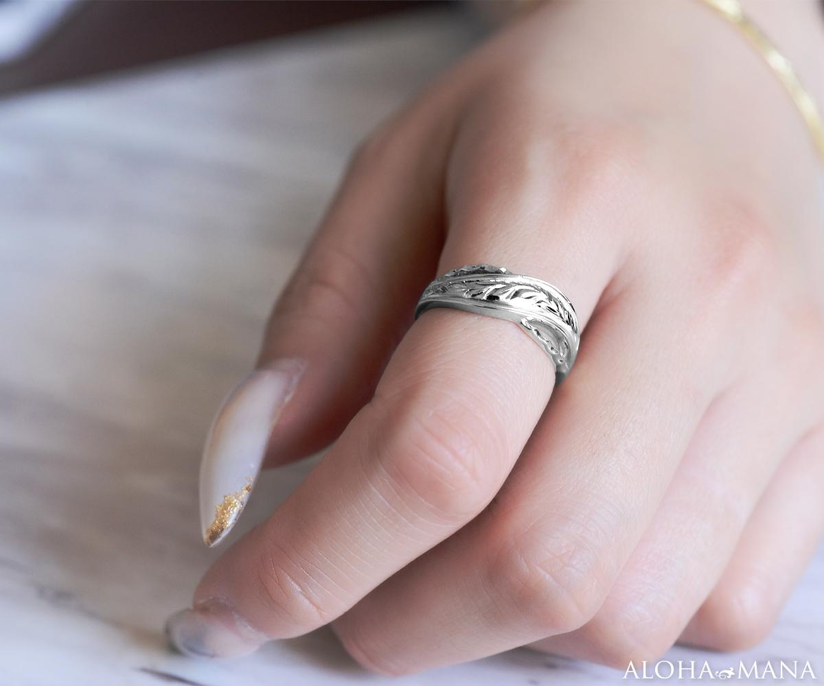 ハワイアンジュエリー リング 指輪 K10 ホワイトゴールド マイレウェーブリング 10金 k10 ゴールド ホワイトゴールド ari1457k10w/新作