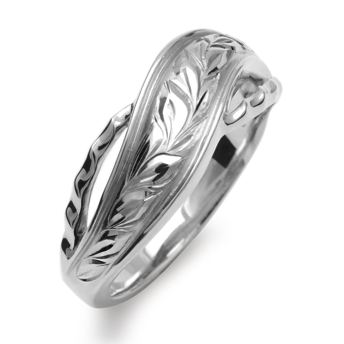 ハワイアンジュエリー リング 指輪 K18 ホワイトゴールド マイレウェーブリング 18金 k18 ゴールド ホワイトゴールド ari1457k18w/新作