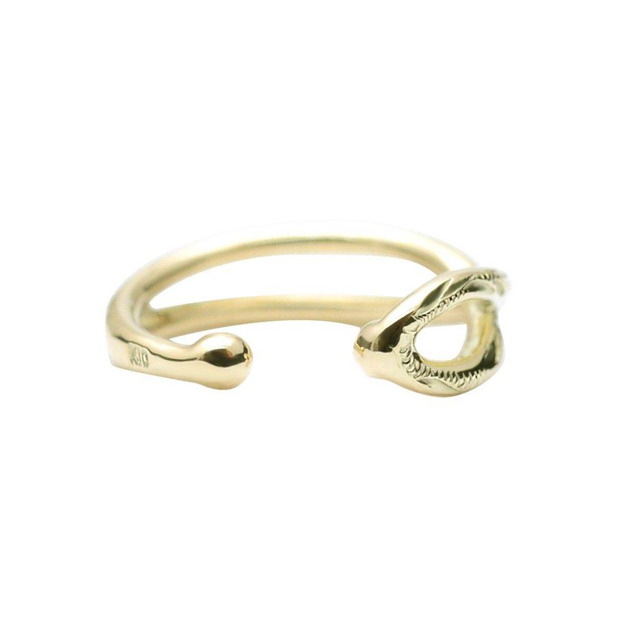 ゴールド カフ 片耳 K10ピアス K10 イヤーカフ ハワイアンジュエリー アクセサリー レディース 女性 メンズ 男性 スクロールインフィニティ イヤーカフ K10 イヤーカフ aer1543プレゼント ギフト新作