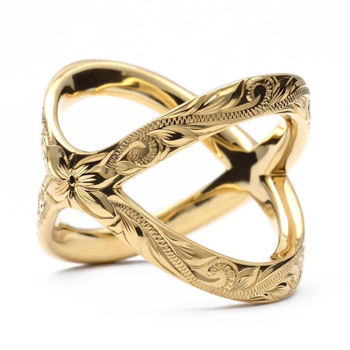 ハワイアンジュエリー リング 指輪 レディース 女性 (weliana) K18 k18 18金 ゴールド イエローゴールドリング プラネタリー イエローゴールド 2wayリング /新作 wri1450