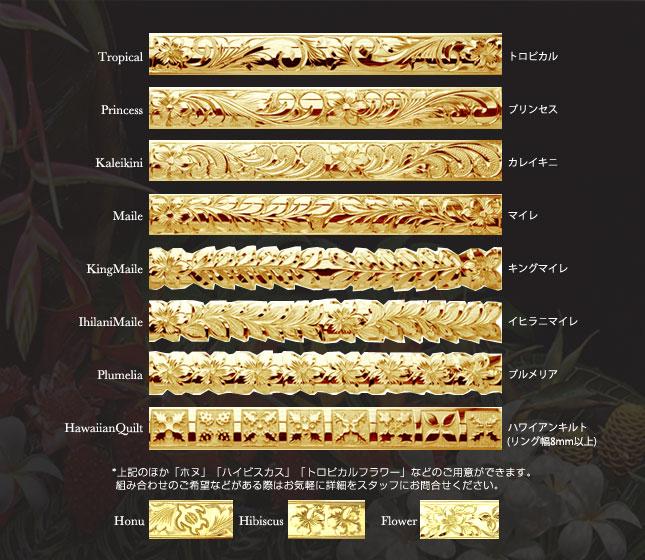 バングル ハワイアンジュエリー アクセサリー レディース メンズ (Weliana)オーダーメイドOnly One  K14ゴールドバングル (幅6mm) dbgg20016