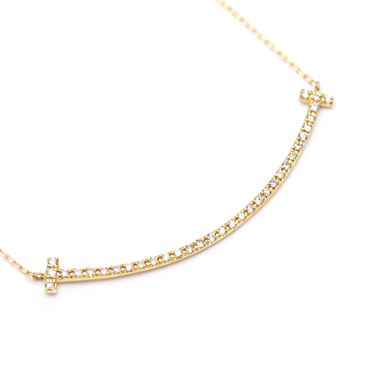 k18ネックレス ハワイアンジュエリー ネックレス K18 ゴールド ダイヤモンド  (Weliana) K18YG ダイヤ バーネックレス 0.13ct/新作