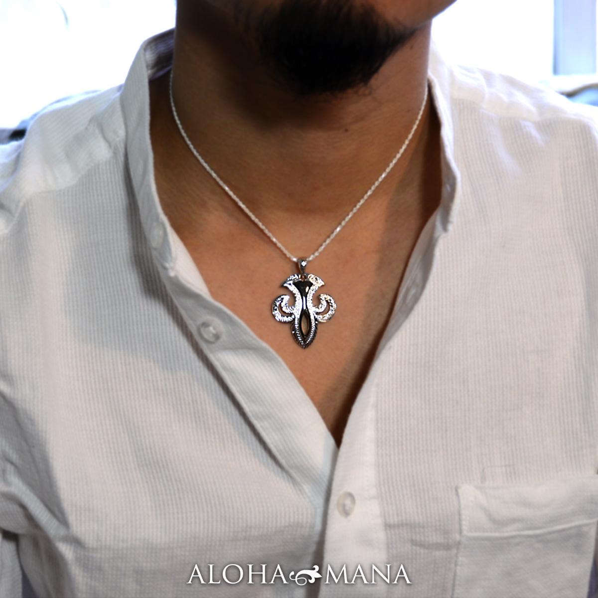 ハワイアンジュエリー ネックレス メンズ シルバー ユニークな十字架のハワイアンクロス ペンダント シルバー 925 チェーン付き ペンダント ネックレス bpd1553/新作