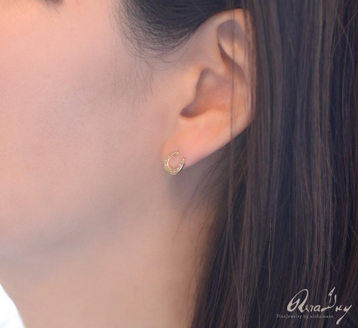 ピアス レディース 女性 アクセサリー 18金 K18 k18 ゴールド(RERALUy) ホースシュー  馬蹄 ピアス 両耳用 イエローゴールド フック ピアス rpe1665k18 新作