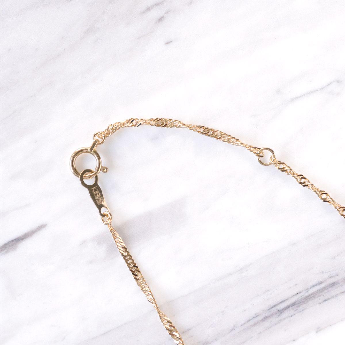K18 イエローゴールド スクリュー 幅1.4mm チェーン 40cm / プレゼント ギフト gold necklace ach1612