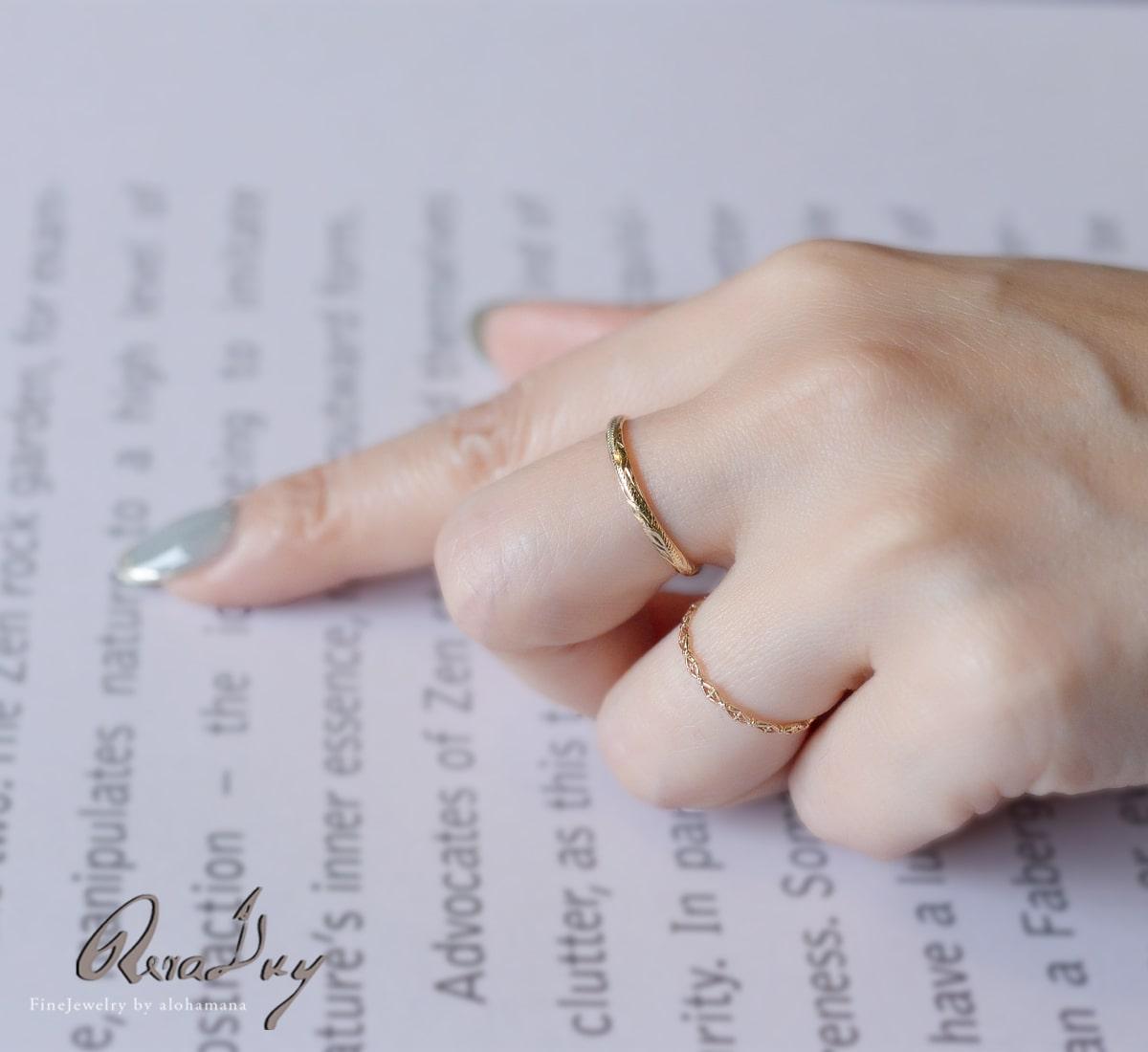 K10 リング 指輪 透かしクロスゴールドリング  (RERALUy) 華奢 新作/rri1678k10