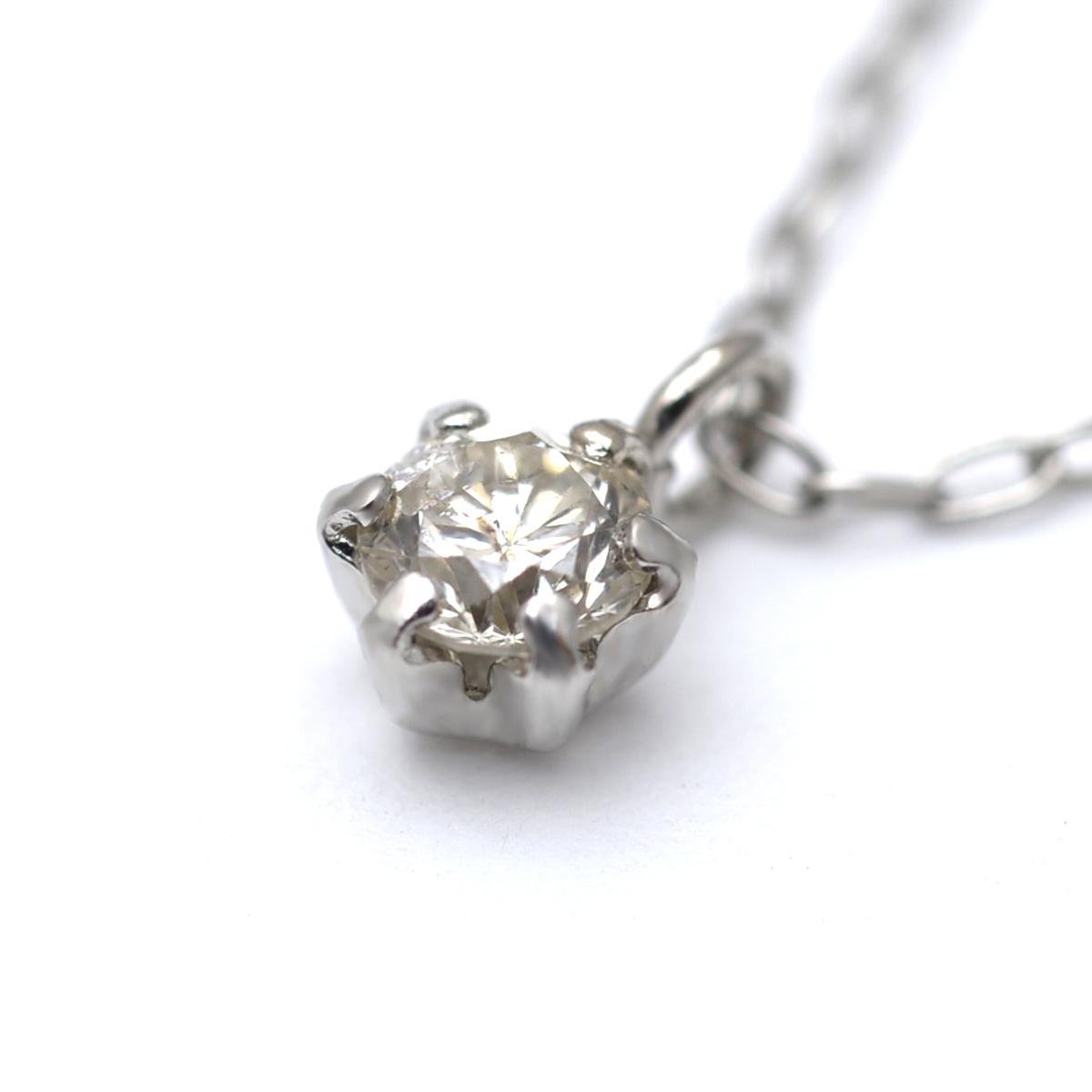 ハワイアンジュエリー ネックレス 一粒ダイヤネックレス ハワイアンファンシーカラーダイヤモンドネックレス リノアカラシャイン 0.08ct Pt900 K18 (チェーンPt850) ane1621/新作