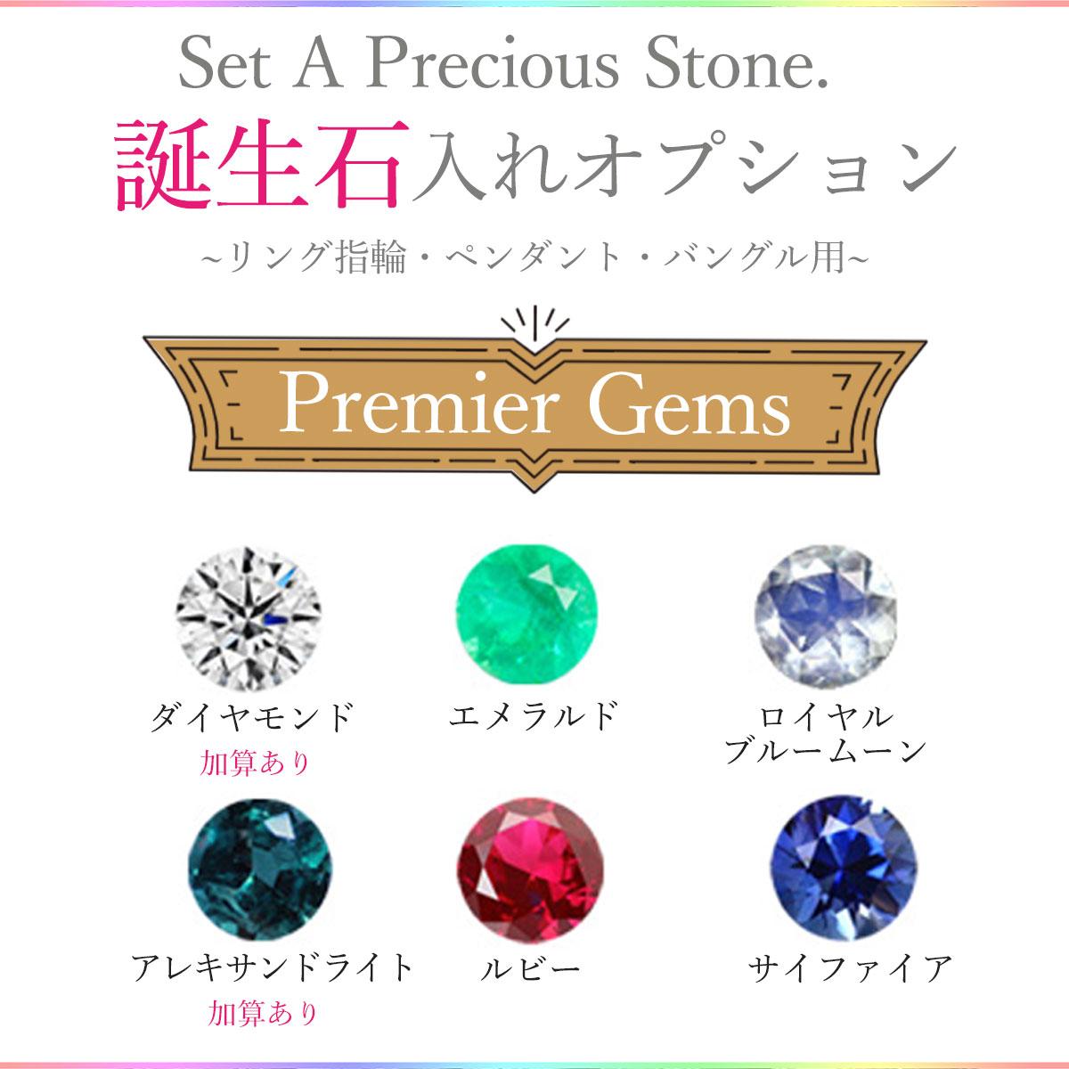 【同時購入特別価格】バングル ハワイアンジュエリー アクセサリー レディース リング・ペンダント・バングル用・ダイヤモンド誕生石セッティングオプション [プレミア] amast3845a