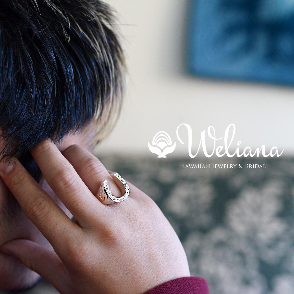 ハワイアンジュエリー レディース 女性 メンズ 男性(Weliana) グラマラス ホースシュー 馬蹄 シルバーリング SILVER925 wri1372