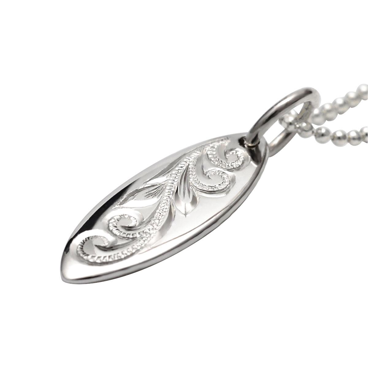 ハワイアンジュエリー ネックレス Silver925 シルバーネックレス silver925 サーフボードペンダント シンプル apd1519 プレゼント ギフト新作