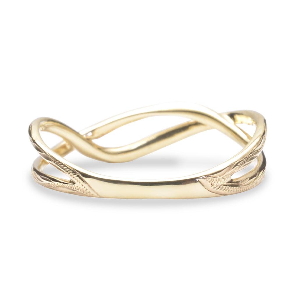 ハワイアンジュエリー 指輪 リング  K10 ゴールド ホア ゴールドリング 10金 k10 ゴールド イエローゴールド ari1684k10/新作