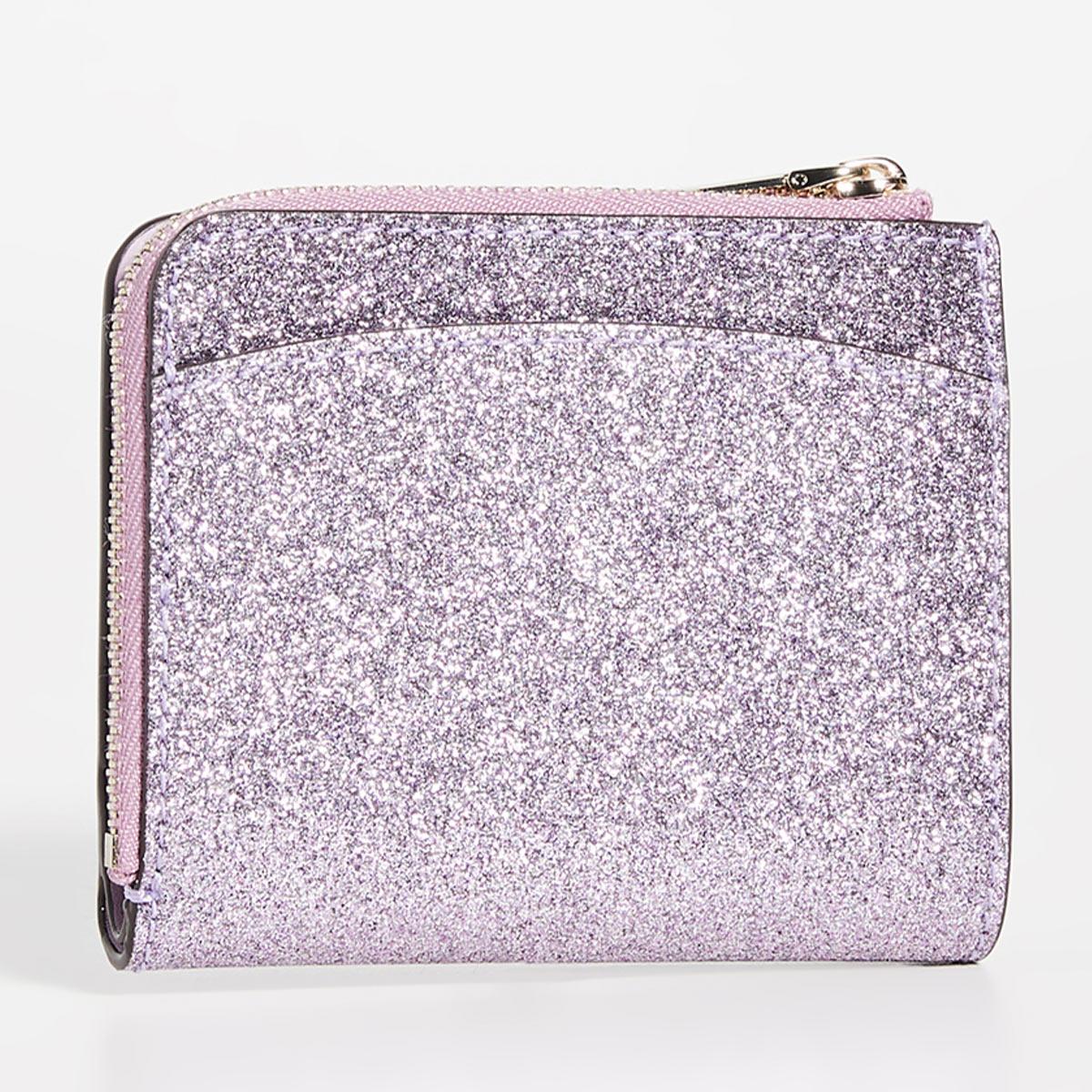 ケイトスペード 財布 二つ折り財布 ミニ財布 折財布 グリッター レディース ブランド コンパクト KATE SPADE NEW YORK