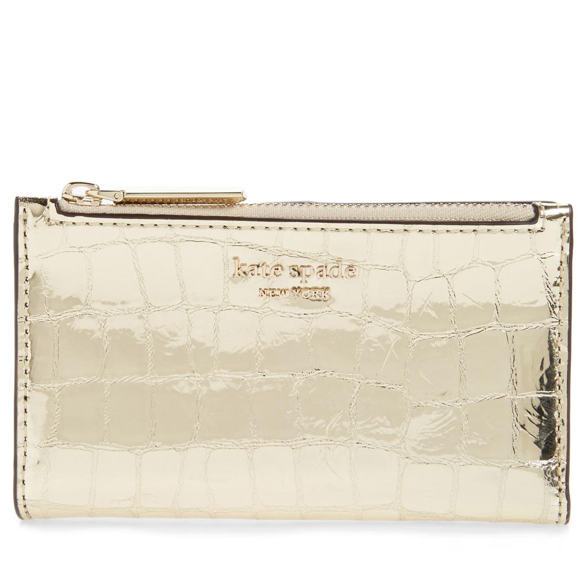 ケイトスペード 財布 二つ折り財布 ミニ財布 折財布 ゴールド レディース ブランド コンパクト KATE SPADE NEW YORK