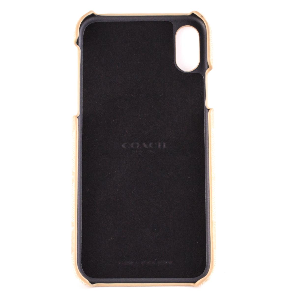 コーチ iphone X XS ケース スマホケース シグネチャー PVC アウトレット COACH
