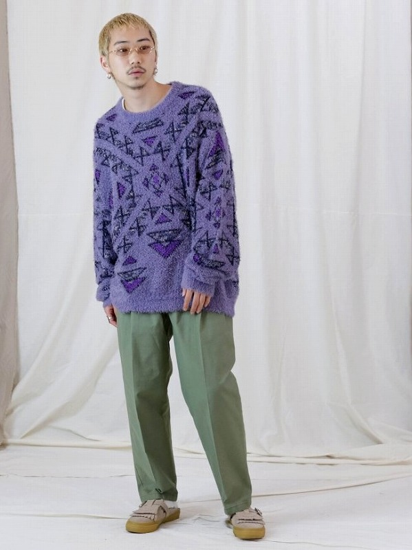 【Iroquoisイロコイ】 3G WJQ GEOMETRIC PATTERN KNIT 279102(3色)