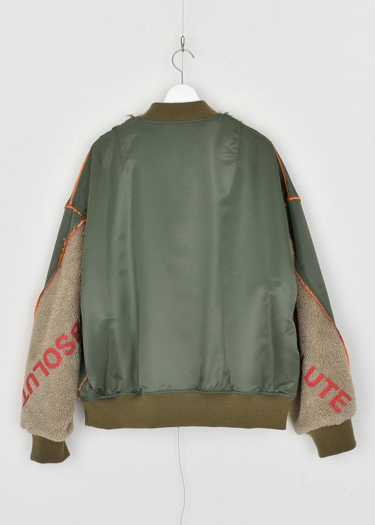【DISCOVEREDディスカバード】 Boa sleeve MA-1 blouson DC-AW21-BL-06(2色)