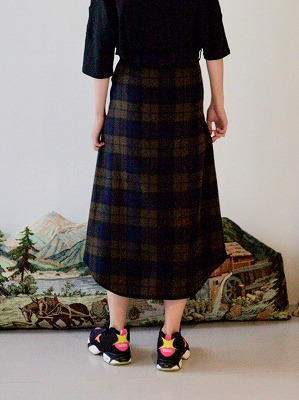 【STORAMAストラマ】 Checked Bottondown Skirt STRM-19I (2色)