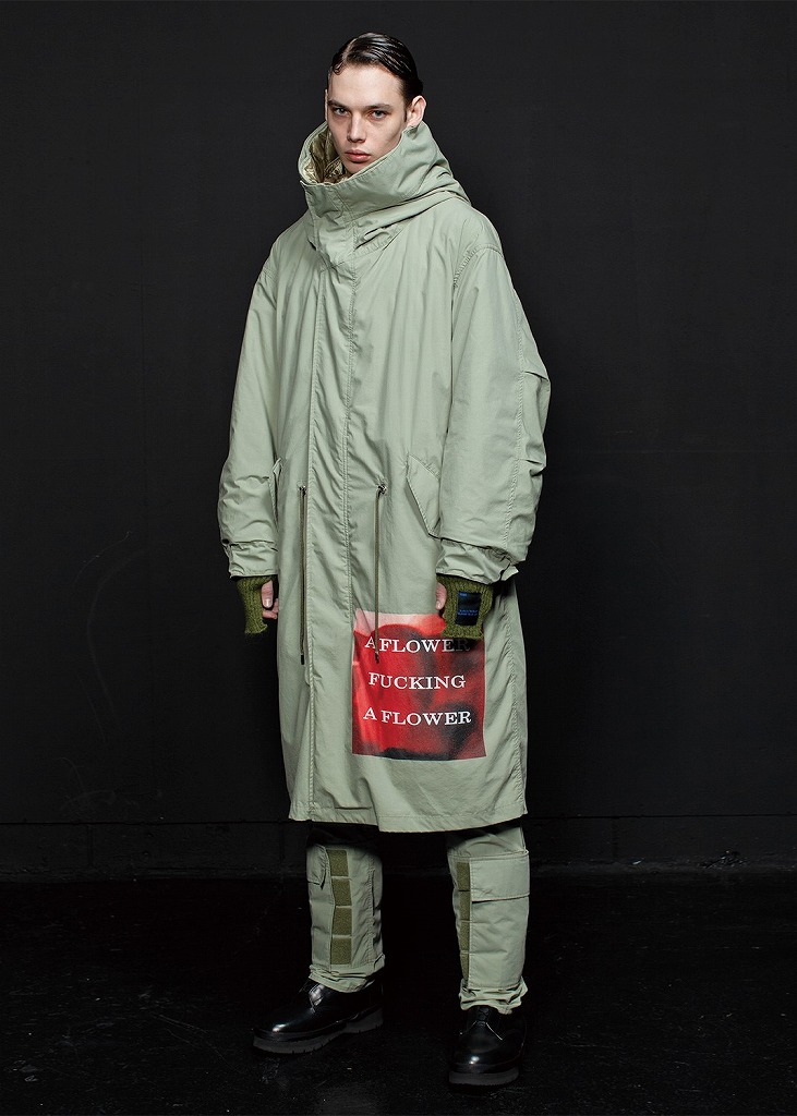 【2020AW】【ALMOSTBLACKオールモストブラック】 2way military hooded coat
