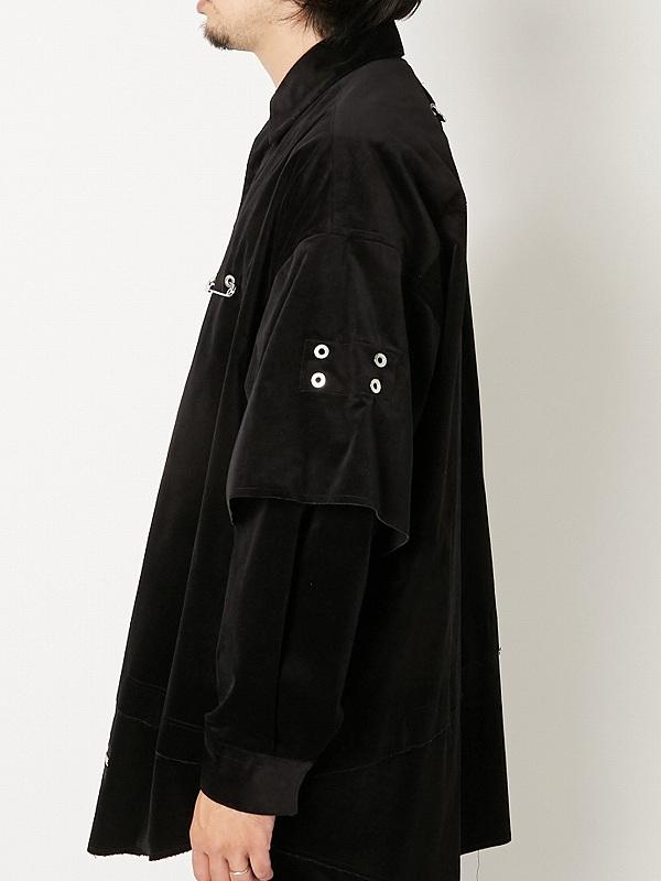 【ALMOSTBLACKオールモストブラック】 VELOUR SHIRTS 21SS-SH04