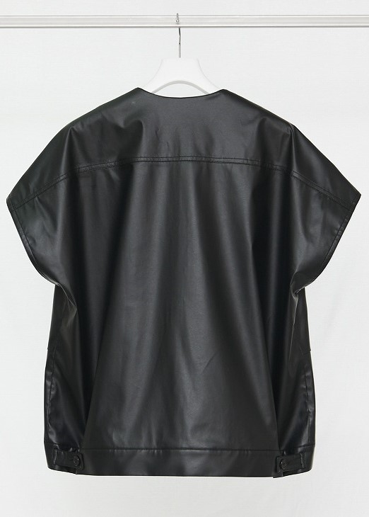 【予約】【NO.ナンバー】21-SS-VT-01 2ND ECO-LEATHER VEST(2色)