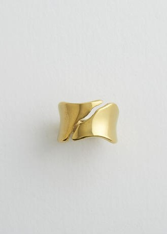 Aquvii(アクビ) Smooth Curve Ring /silver