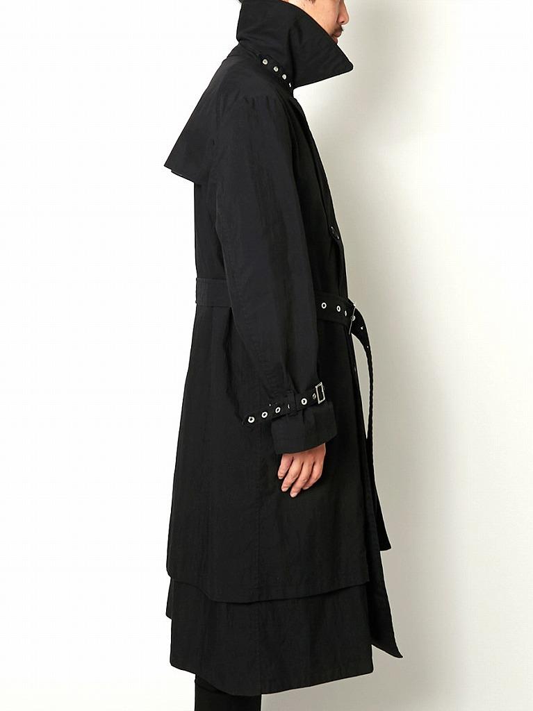 【2020AW】【ALMOSTBLACKオールモストブラック】LAYERED TRENCH COAT