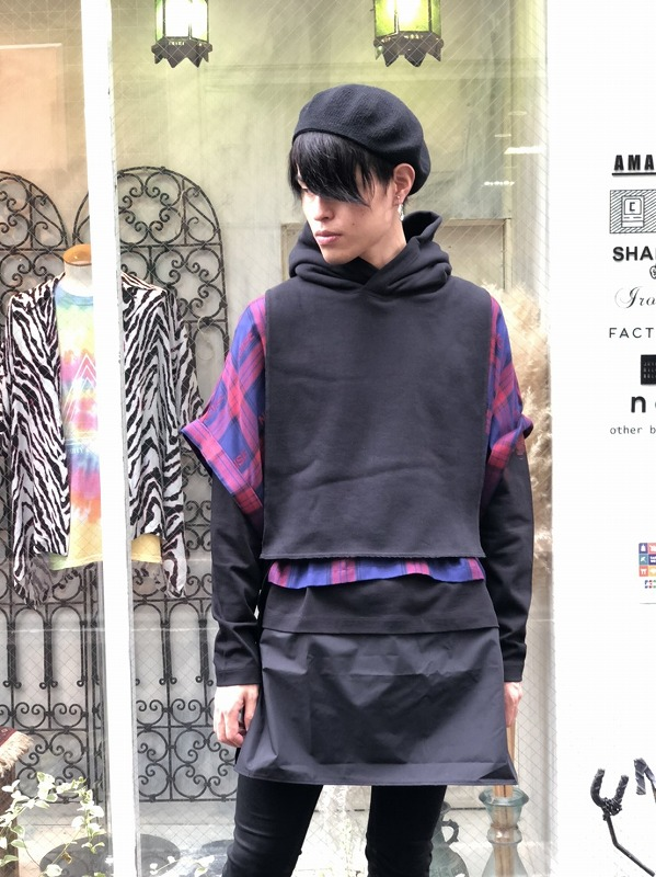 【ALMOSTBLACKオールモストブラック】 Printed Long Sleeve Tee 20AW-CS03(2色)