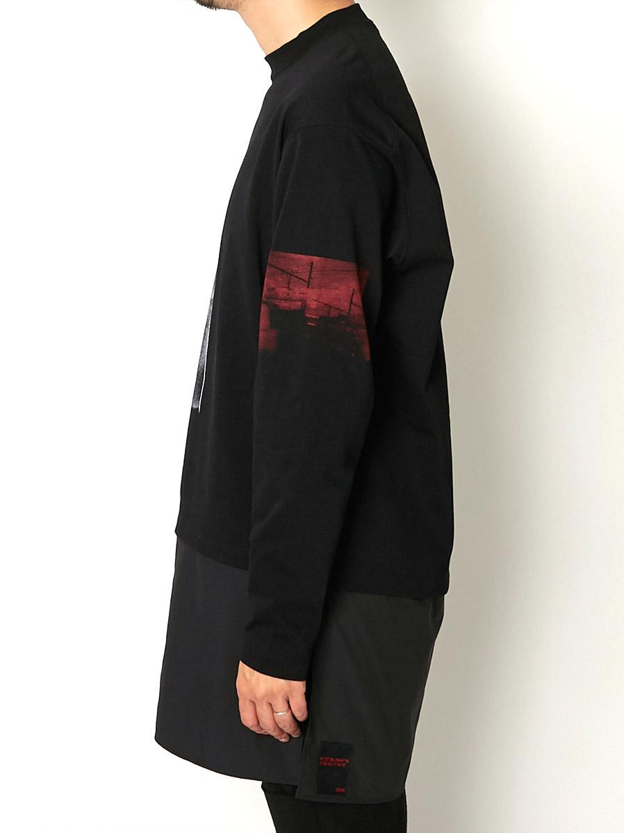 【ALMOSTBLACKオールモストブラック】 Printed Long Sleeve Tee 20AW-CS03(2色)