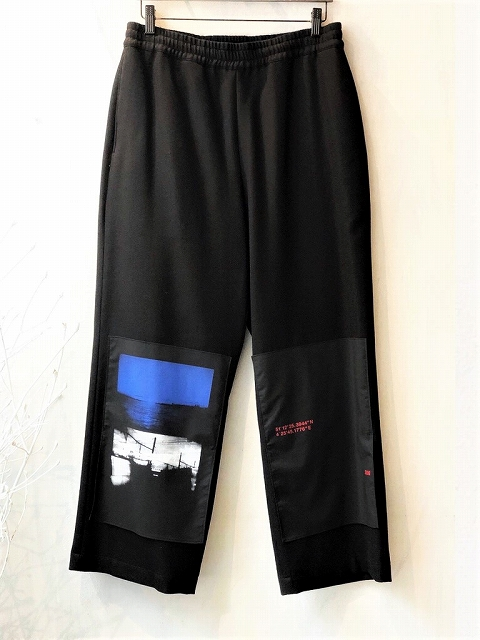 【ALMOSTBLACKオールモストブラック】 Wool wide easy pants 20AW-PT04