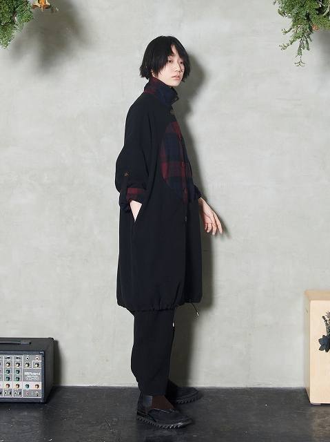 【STORAMAストラマ】 ×鈴木貴雄(UNISON SQUARE GARDEN) Big hole wool coat STRM20-01(2色)