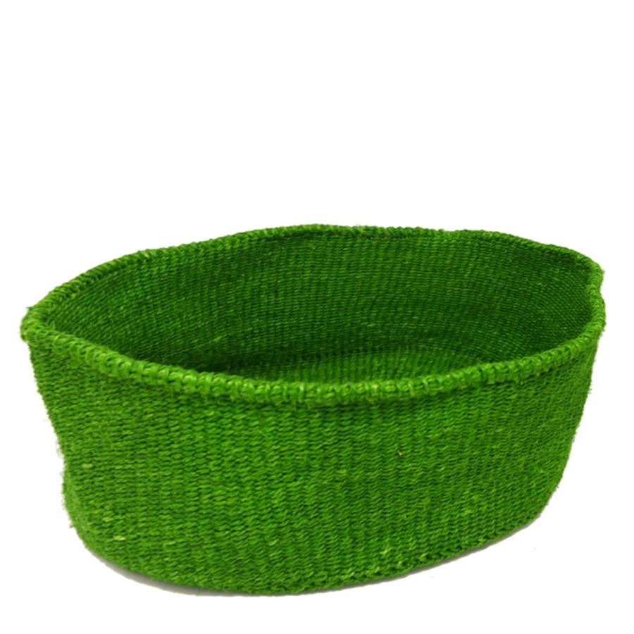 かご 楕円型 ワンサイズ ベーシック ライトグリーン