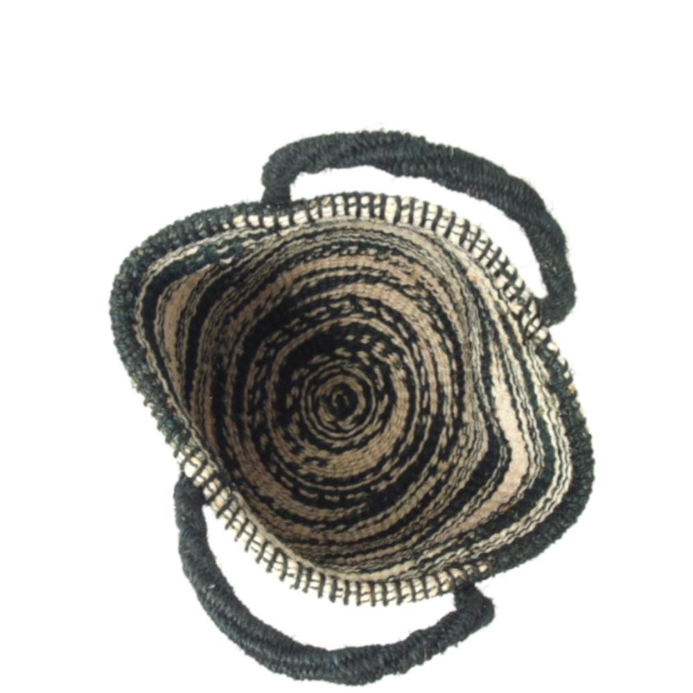 サイザルバッグ Sサイズ マーブル ブラック・ナチュラル