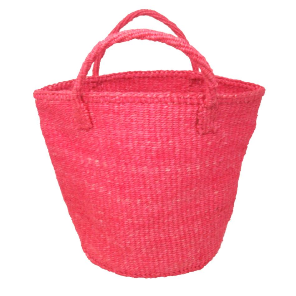 サイザルバッグ Mサイズ ベーシック ピンク