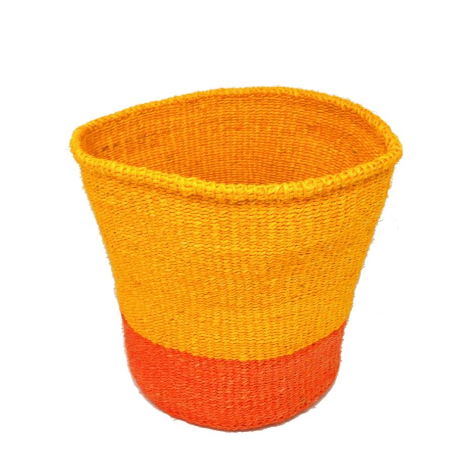 かご Mサイズ ツーピース イエロー・オレンジ