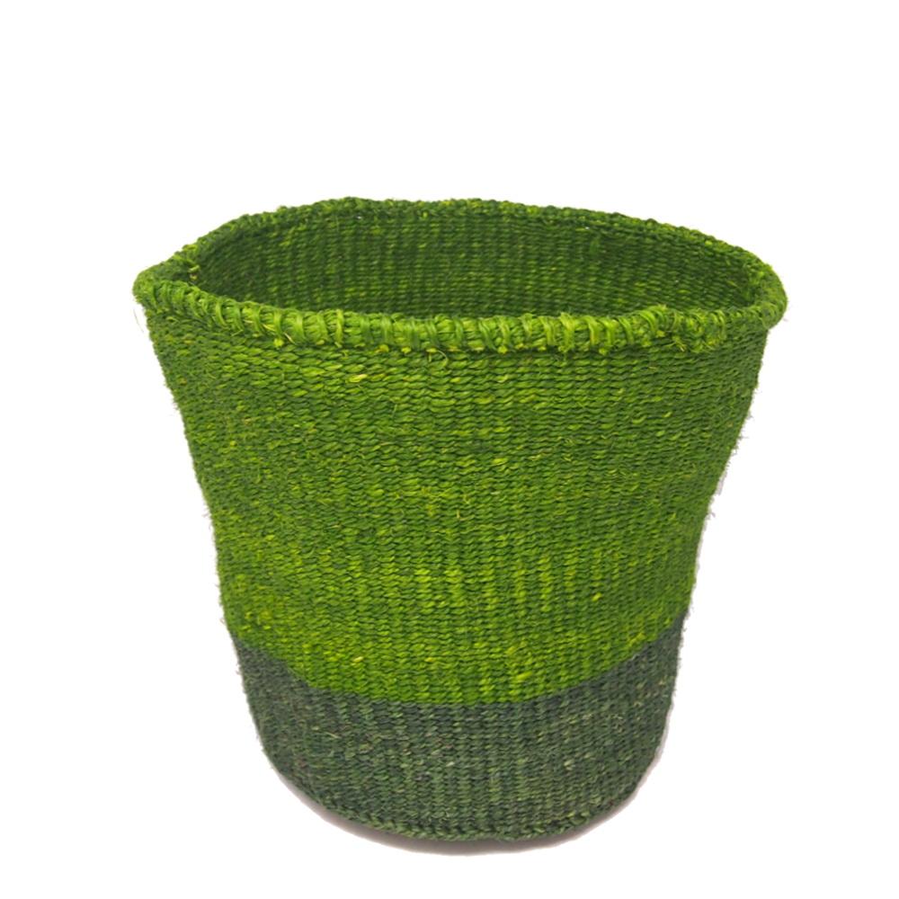 かご Mサイズ ツーピース ライトグリーン・ダークグリーン